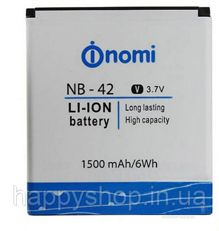Оригинальная батарея Nomi i401 (NB-42), фото 2