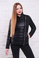Женская  куртка демисезонная на синтепоне черная 44,46,48,50