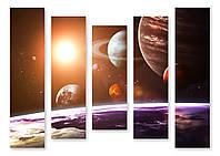 Модульная картина планеты 3д