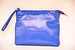Кожаный клатч VS134 blue grey 24х20 см, фото 2