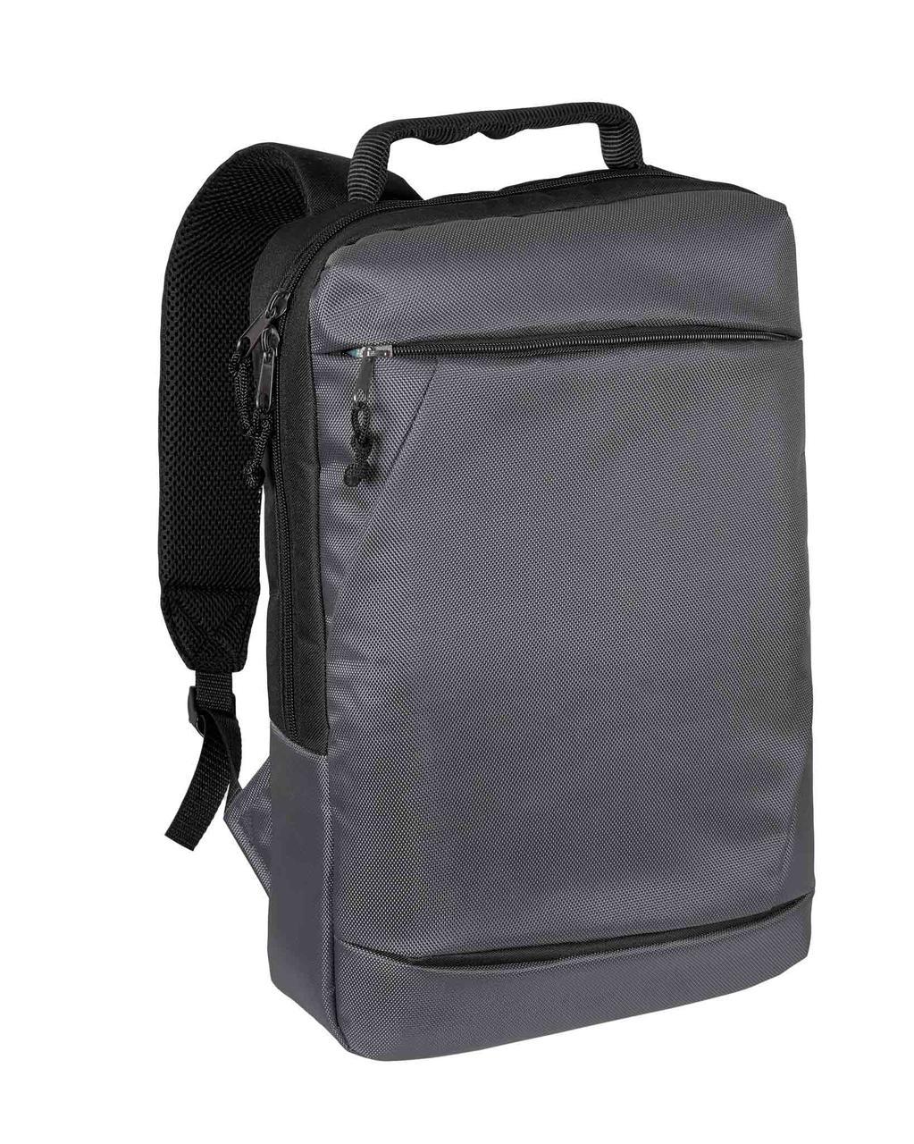 Городской рюкзак для ноутбука серо-черный Surikat 18л. (мужские рюкзак