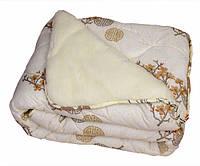 Зимнее тёплое одеяло с открытой шерстью (евро)