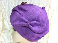 Молодёжная зимняя шапка с складками и бусинками
