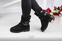Зимние замшевые женские ботинки