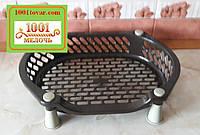 Пластиковая подставка LUX на 1ярус, коричнево-кофейная (фруктовница, хлебница, этажерка)