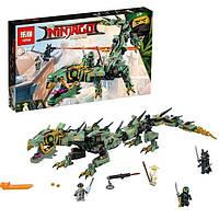 """Конструктор Ninjago Movie Lepin 06051 (аналог Lego 70612) """"Механический Дракон Зеленого Ниндзя"""" 592 дет"""