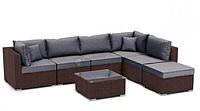 Угловой диван в сад из ротанга