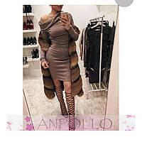 Женское платье короткое с воротом хомут ангора молочное бардо розовое черное каппучино электрик изумруд