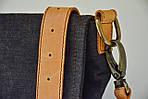 Сумка женская VS135 leather canvas 30х28х7 см, фото 6