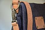 Сумка женская VS135 leather canvas 30х28х7 см, фото 5