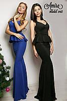 Женское элегантное вечернее платье, в расцветках
