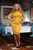 Платье Блэк горчица большого размера 48-94 батал