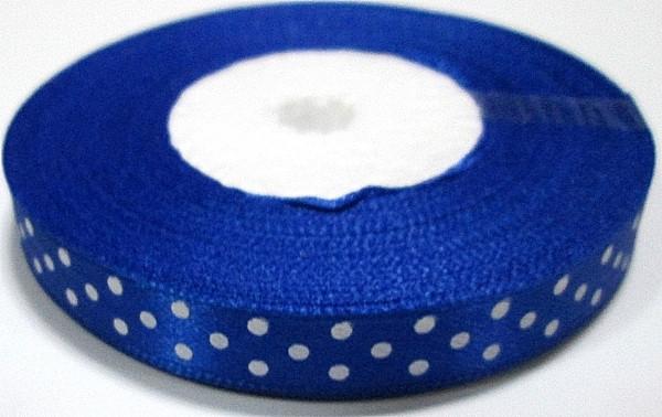 Лента в Горошек 1 см/23 м, синяя