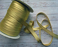 Коса бейка атласна 15мм   золота
