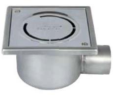 WL100/50H1 Трап с  горизонтальным выпуском для ванных комнат  с решеткой Cerchio