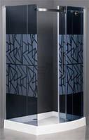 Душевая кабина KORRA К-M3B 1200x900 профиль хром стекло графитовое silkscreen