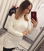 Красивая теплая белая женская туника , фото 1