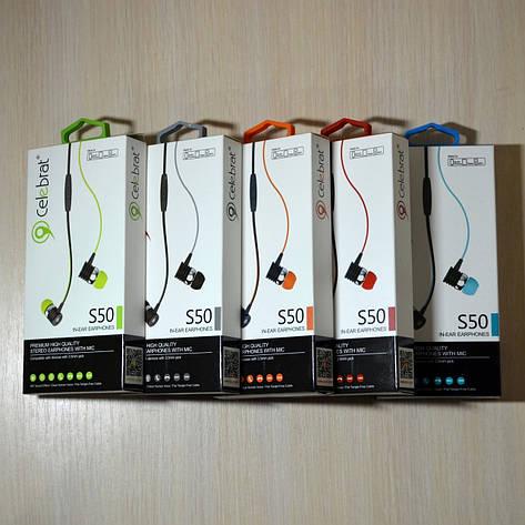 Наушники Celebrat S50 гарнитура с микрофоном, фото 2