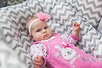 Кокон - гнездышко для новорожденного (двухсторонее) внутрений размер 70х45см, фото 1