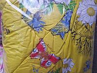 Зимнее теплое одеяло из микрофибры и полиэфирного утеплителя 150*220.Цвета разные.