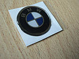 Наклейка s круглая BMW 30х30х1.2мм силиконовая эмблема логотип марка бренд в круге на авто 3М БМВ, фото 3