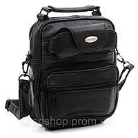 Бюджетная сумка через плечо из кожи лайка Goldcoral арт. 0054-15