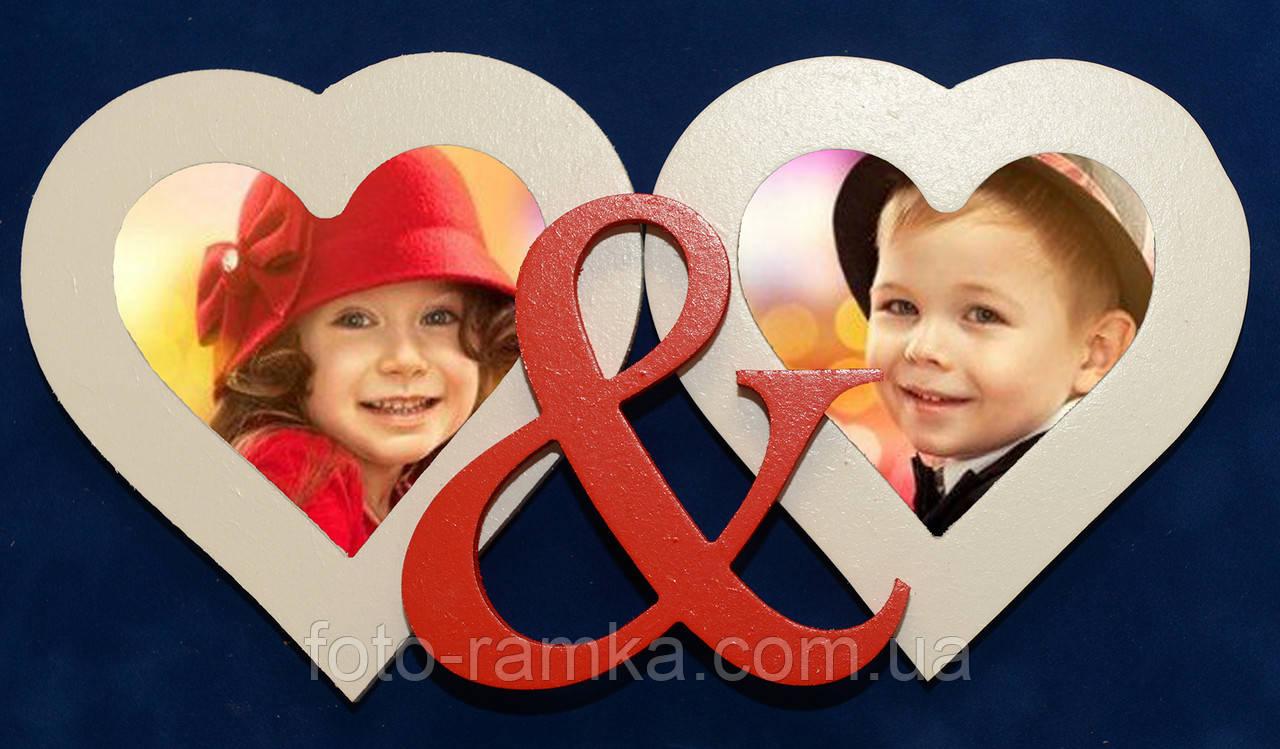 мультирамка два серца