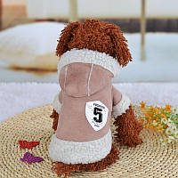 Куртка зимняя дубленка для собак мелких пород