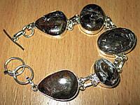 """Серебряной браслет с  петерситом """"Элегант"""", фото 1"""