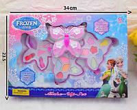 Набор детской декоративной косметики Холодное Сердце Frozen 79688: помады, тени, кисточки (3 яруса)