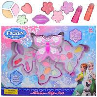 Набор детской косметики Холодное Сердце Frozen 79688: помады, тени, кисточки (3 яруса)