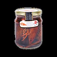 Раки в солевой заливке 500 грамм Русский берег в стеклянной банке