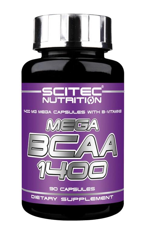 Scitec Nutrition Mega BCAA 1400 90 caps, Сцайтек Мега БЦА 1400 90 капсул