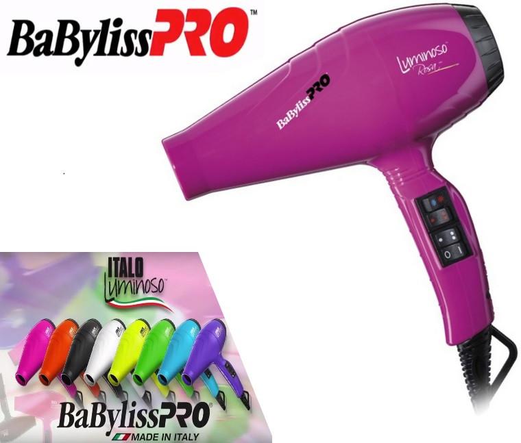 Фен для волос BaByliss PRO BAB6350IFE Luminoso Rosa