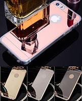Силиконовый зеркальный чехол для iPhone 5 5S SE