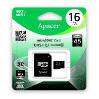 Карта памяти Apacer 16GB MicroSDHC UHS-I Class 10 (AP16GMCSH10U1-R)