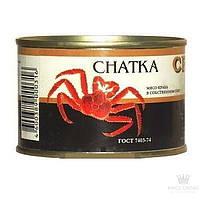 Мясо краба в собственном соку Chatka 240 грамм