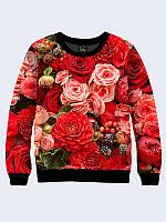 Женский свитшот Красные цветы