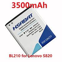 Аккумулятор BL210 Lenovo A606 S820 S820E A750E A770E A656 A766 A658T S650 A536 3500mah, Усиленный