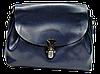 Женская сумочка из натуральной кожи синего цвета GАR-070255