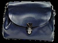 Женская сумочка из натуральной кожи синего цвета GАR-070255, фото 1