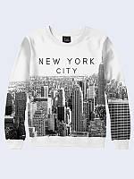 Женский свитшот Нью-Йорк чёрно-белый