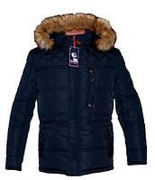 Теплая зимняя мужская куртка с мехом 285
