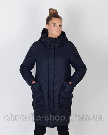 Зимняя куртка-кокон женская, фото 2