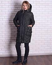 Зимняя куртка-кокон женская, фото 3