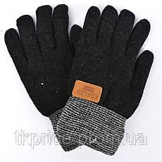 Детские шерстяные перчатки для мальчиков на меху - длина 21 см, фото 3
