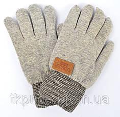 Детские шерстяные перчатки для мальчиков на меху - длина 21 см, фото 2