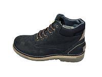 Мужские зимние ботинки с нат.кожи Multi Shoes Carat ST-1 Black размеры: 40 41 42 43 44 45
