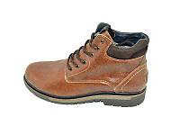Мужские зимние ботинки с нат.кожи Multi Shoes Carat ST-1 Ginger размеры: 40 41 42 43 44 45