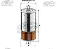 Фильтр масляный AEBI TT/ MERCEDES O 100, O 405, UNIMOG, 190 (W201), C (W202), E T-MODEL (S124), E (W124)